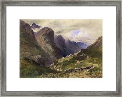 The Pass Of Glencoe, 1852 Framed Print by William Bennett