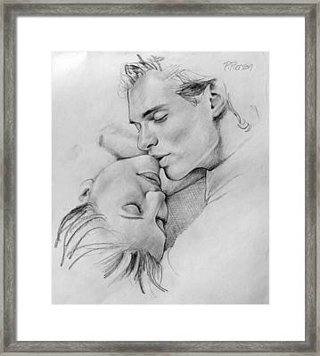 Passion Of The Kiss Framed Print by Patrick Anthony Pierson