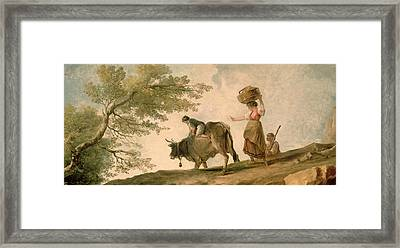 The Pasture Framed Print by Hubert Robert