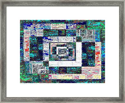 The Patchwork Framed Print by Tim Allen