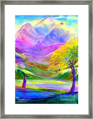 Misty Mountains, Fall Color And Aspens Framed Print by Jane Small