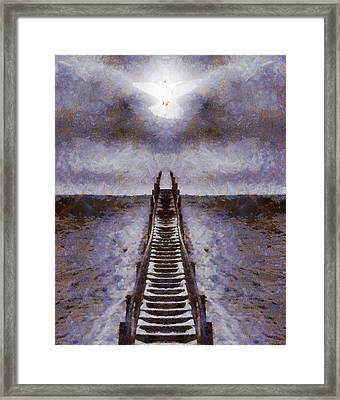 The Path To Heaven Framed Print by Dan Sproul