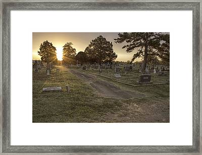 The Path To Light Framed Print by Jason Politte