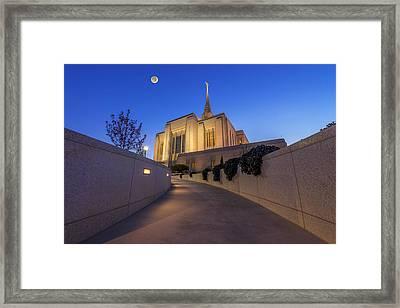 The Path To Ogden Temple Framed Print by Dustin  LeFevre