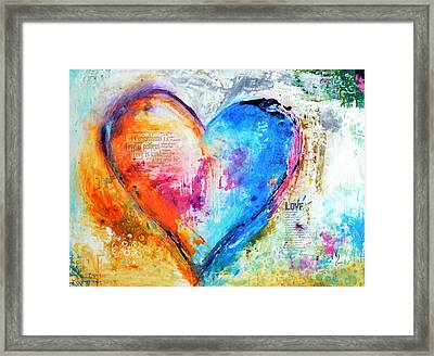 The Patience Of Love Framed Print by Ivan Guaderrama