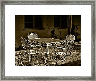 The Patio Framed Print by Camille Lopez