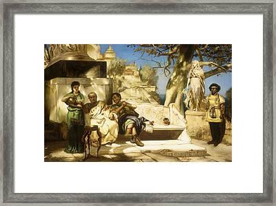The Patrician's Siesta Framed Print by Hendrik Siemiradzki