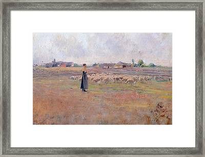 The Peace Of Evening Framed Print by Federico Rossano
