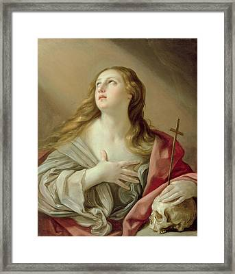 The Penitent Magdalene Framed Print by Guido Reni