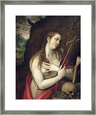 The Penitent Magdalene Framed Print by Luis de Carbajal