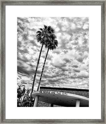 The People Are The City Palm Springs City Hall Framed Print by William Dey