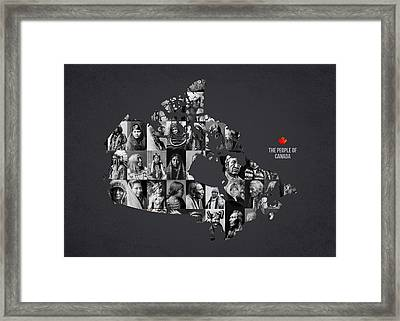 The People Of Canada Framed Print by Aged Pixel