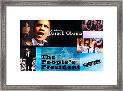 The People's President Still Framed Print by Terry Wallace