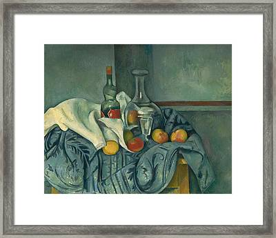 The Peppermint Bottle Framed Print by Paul Cezanne