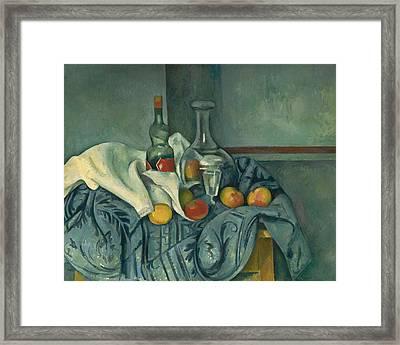 The Peppermint Bottle Framed Print by Paul Cezanne