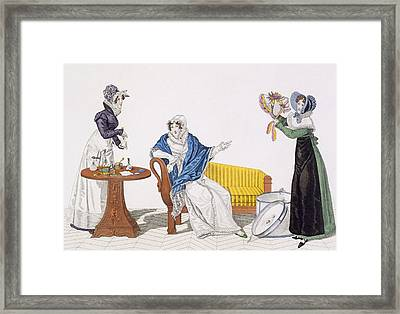 The Perfect Cure Or, The Hat Framed Print by French School