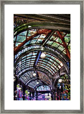 The Pergola Ceiling In Pioneer Square Framed Print by David Patterson