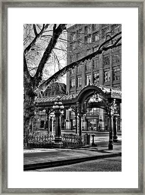 The Pergola In Pioneer Square IIi - Seattle Washington Framed Print by David Patterson