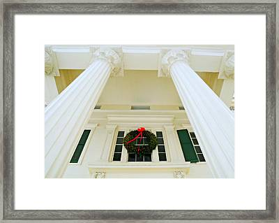 The Peter Augustus Jay House Circa 1838 Framed Print by Diana Angstadt