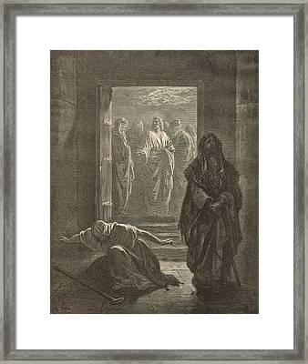 The Pharisee And The Publican Framed Print by Antique Engravings