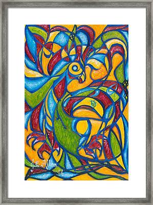 The Phoenix Framed Print by Joseph Edward Allen