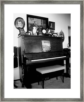 The Piano And Clarinet  Framed Print by Peggy Leyva Conley