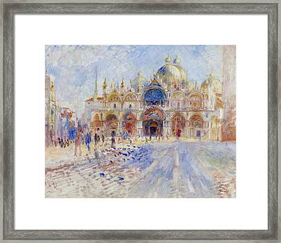 The Piazza San Marco Framed Print by Pierre Auguste Renoir