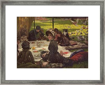 The Picnic Dejeuner Sur Lherbe, C.1881-2 Panel Framed Print by James Jacques Joseph Tissot