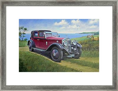 The Picnic Framed Print by Mike  Jeffries