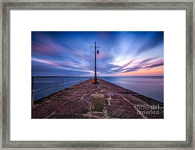 The Pier At Sun Rise Framed Print by John Farnan