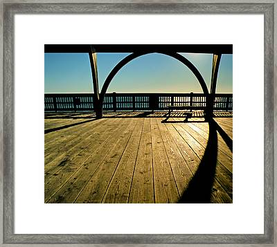 The Pier At Tybee Island Framed Print by Steven  Michael