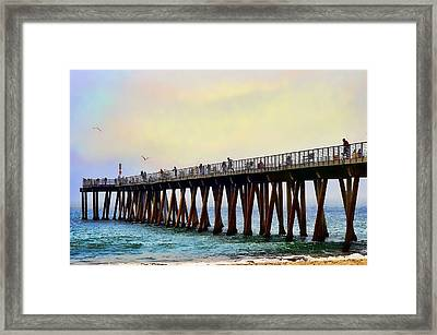 The Pier Framed Print by Camille Lopez