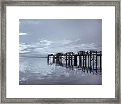 The Pier Framed Print by Kim Hojnacki