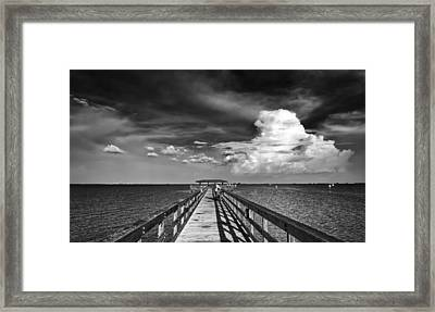 The Pier Framed Print by Marvin Spates