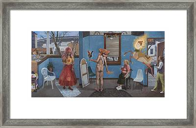 The Pig The Rooster The Snake And The Blessing Of Carlos Wedding Framed Print by Alfredo Arcia