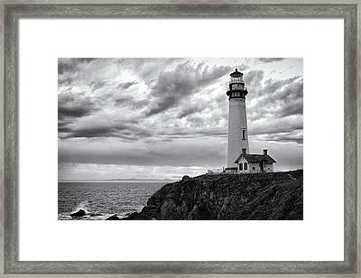 The Pigeon Point Beacon Framed Print by Eduard Moldoveanu