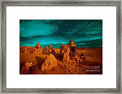 The Pinnacles Dusk Framed Print by Julian Cook