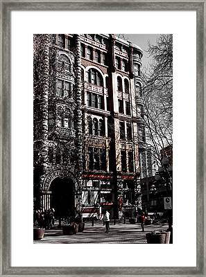 The Pioneer Building - Seattle Washington Framed Print by David Patterson