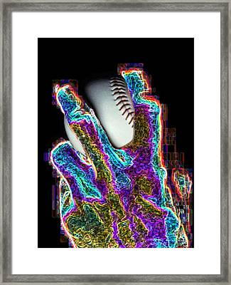 Digital Manipulation Framed Print featuring the photograph The Pitch by Tim Allen
