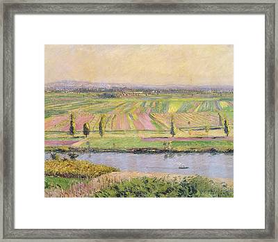 The Plain Of Gennevilliers From The Hills Of Argenteuil Framed Print by Gustave Caillebotte