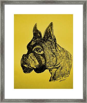 The Playful Guardian Framed Print by Maria Urso