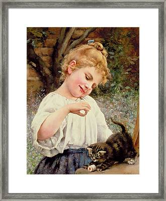 The Playful Kitten Framed Print by Leo Malempre
