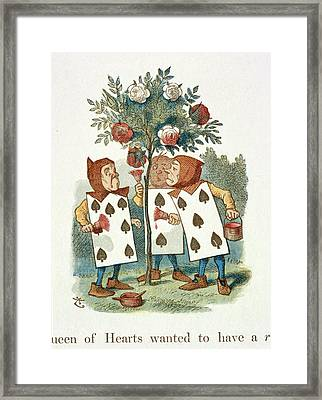 The Playing Cards Framed Print by British Library