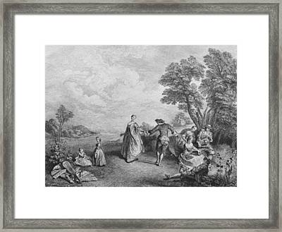 The Pleasures Of The Countryside Framed Print by Nicolas Lancret