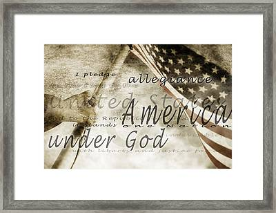 The Pledge Of Allegiance And An Framed Print by Chris and Kate Knorr