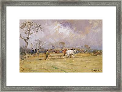 The Plough Team Framed Print by John Atkinson