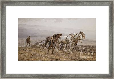 The Ploughman Wilmington Polegate Near Eastbourne Framed Print by Joseph Harold Swanwick