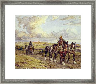 The Plow Team Framed Print by Joseph Harold Swanwick