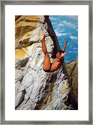 The Plunge   Framed Print by Karen Wiles