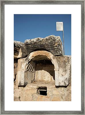 The Plutonion At Hierapolis Framed Print by David Parker